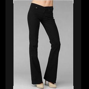 7 for all mankind original black bootcut jeans size 28